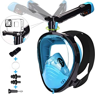 comprar comparacion LEMEGO Máscara de Buceo Adulto Mascara Snorkel 180° Panorámica con Snorkel Giratorio 360 ° Anti-Niebla y Anti-Fugas Easybr...