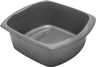 Addis Large Rectangular Bowl, Metallic Silver, 9.5 litre