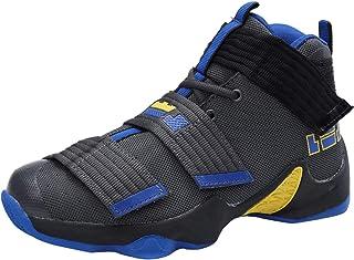 comprar comparacion SINOES Hombre Mujer Zapatillas de Baloncesto Calzado Deportivo Al Aire Libre Moda High-Top Sneaker Antideslizante Zapatill...