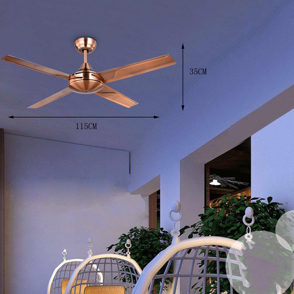 DS - Ventilador de techo Ventilador de ventilador Continental Retro Home Ventilador de techo Ventilador de techo de alto consumo Industrial: Amazon.es: Hogar