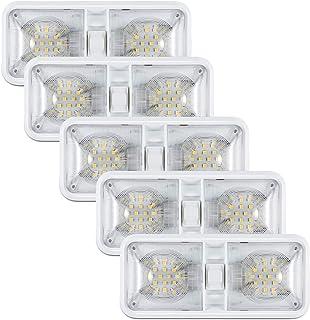 Kohree 12V Led RV Ceiling Dome Light RV Interior Lighting for Trailer Camper with Switch, Natural White 4000-4500K 640 Lumens (Pack of 5)