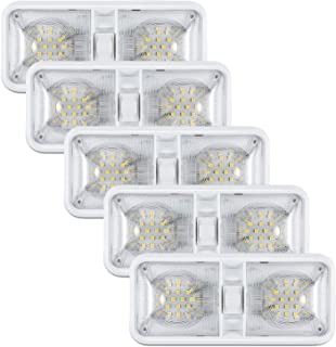 Kohree 12V Led RV Ceiling Dome Light RV Interior Lighting for Trailer Camper with Switch, Natural White 4000-4500K 600 Lumens (Pack of 5)