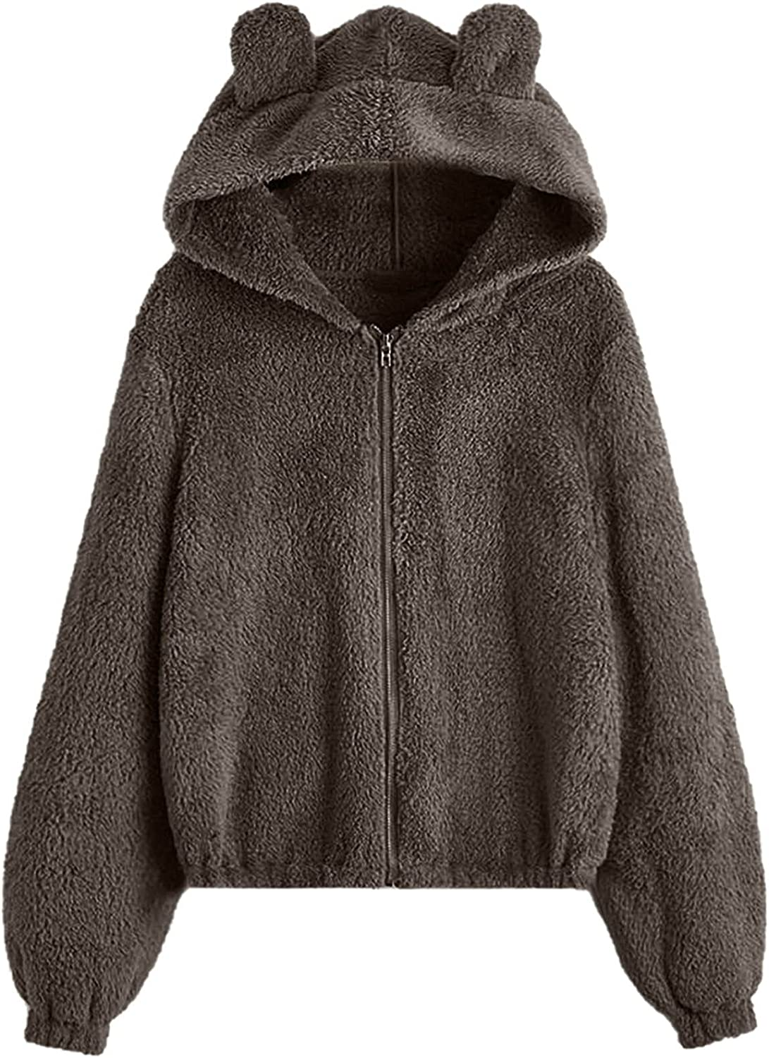 Kanzd Max 49% OFF Jackets Max 59% OFF for Women Fashion Long F Zip Fuzzy Coats Sleeve Up