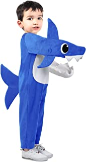 Daddy Shark Costume for Toddlers, Includes a Jumpsuit, Fins, and a Tail