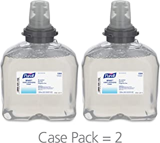 PURELL TFX SF607 Hand Sanitizer Foam Refill, Fragrance Free, 1200 mL Sanitizer Refill for PURELL TFX Touch-Free Dispenser (Pack of 2) – 5384-02