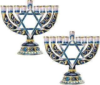 Menorah Hanukkah Llama Alpaca Chanukah Regalo vacanze ebreo Maglietta