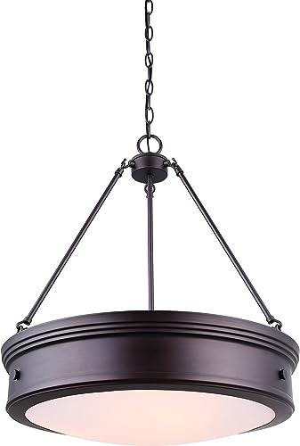 discount CANARM LTD ICH624A04ORB20 Boku ORB 4 Light Chandelier Oil Rubbed Bronze popular with sale Flat Opal Glass outlet sale