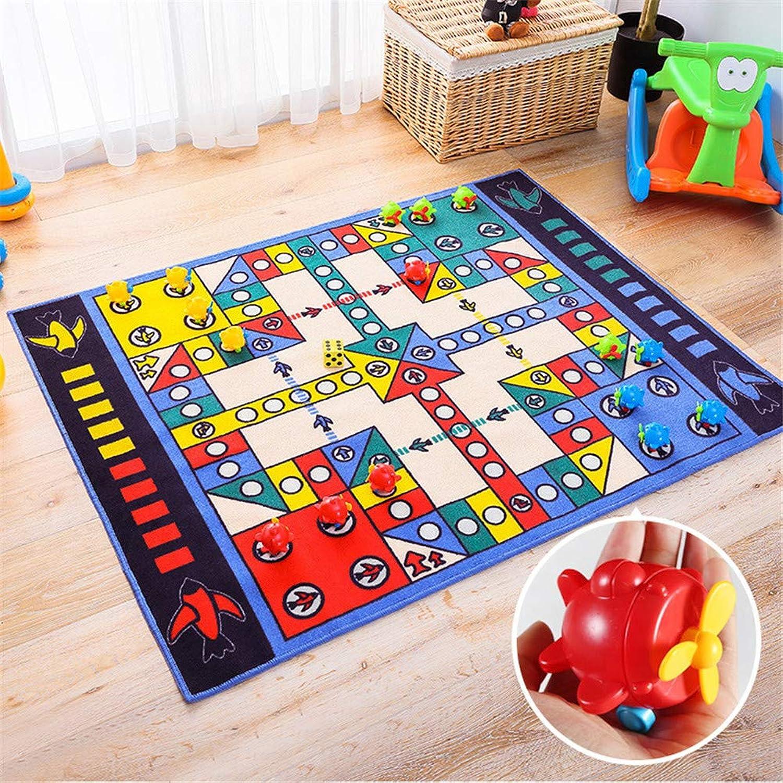 JLCP Tappeto da Gioco Puzzle per Bambini con 16 Pezzi degli Scac , Tappeto per Soggiorno Domestico Tappeti Striscianti Antiscivolo per Bambini Tappetino Decorativo per La Casa 100X130 Cm