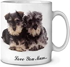 Schnauzers 'Love You Mum' Coffee/Tea Mug Christmas Stocking Filler Gift Idea