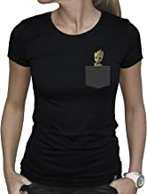 ABYstyle - Marvel - Pocket Groot Camiseta Mujer Negro