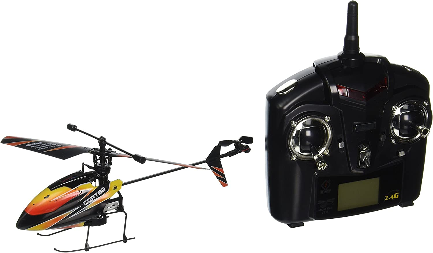 New WL V911 4 CH Single Rotor Helicopter Version 2 New & Improved schwarz by WE-R-KIDS