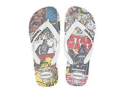Havaianas Star Wars Flip Flops (White/White/Black) Men