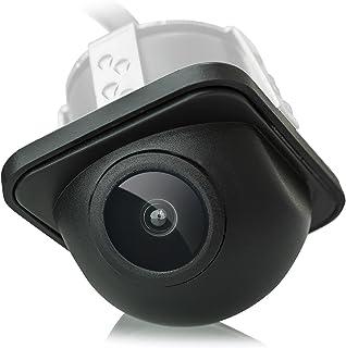 XOMAX XM 012 Micro Farbbild Rückfahrkamera + Weitwinkel 170 Grad + Wasserfest, Staubdicht + 0,3 LUX + PAL + 648 x 488 Pixel + Einfache Installation
