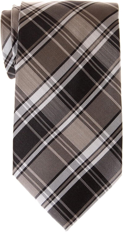 Retreez Retro Styles Tartan Plaid Woven Microfiber Men's Tie  Various colors