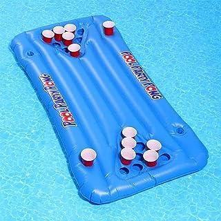 WOSHUAI Table Pong BièRe Table Pong De BièRe, Flotteur GéAnt Table Pong BièRe, Lit Gonflable De Matelas d'air, Cadeau De R...