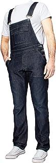 Enzo Mens Denim Dungarees Work Vintage Overalls Bib and Braces Black Blue Regular King Big Waist Plus Size 30-50