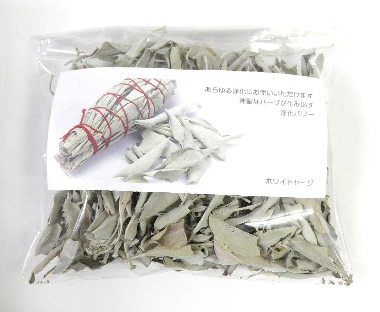 ローンファーム試すホワイトセージ リーフのみ 約100g 浄化用 オーガニック 無農薬 お香 プロ用 パワーストーン