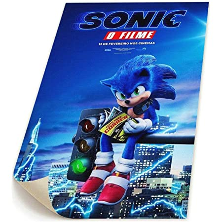 Art Sonic the Hedgehog Movie 2020 Comic Poster Silk 24x36 12x18 B-718