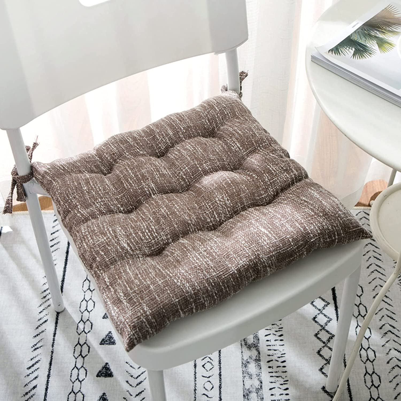 FYLHX OFFer Super Soft Max 90% OFF Cotton Linen Seat Breathab Cushion Four Seasons