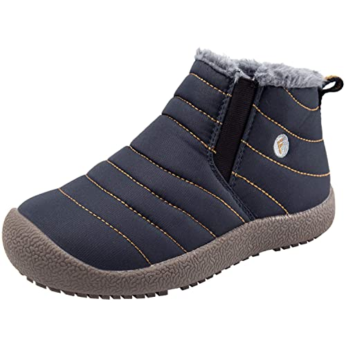 JINKUNL Kids Winter Warm Snow Boots Outdoor Fur Lined Lightweight Ankle  Booties Sneakers Shoes for Girls d56c70678