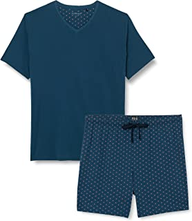Schiesser Men's Schlafanzug Kurz Pajama Set