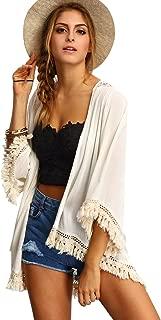 Women's Tassel Kimono Fringe Cardigan Beachwear Cover up