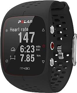 Relógio com GPS e Frequência Cardíaca no Pulso para Corrida, Polar, M430, Relógio para Esportes com GPS, Preto, Único