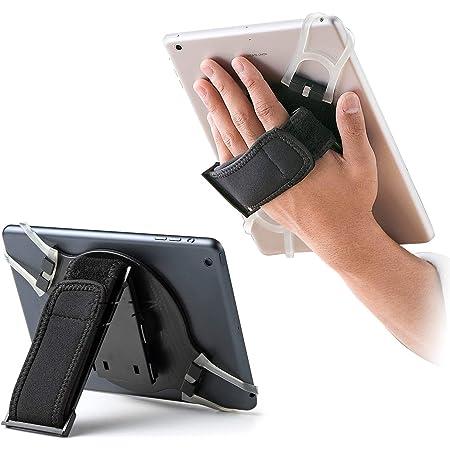 サンワダイレクト タブレット iPad 手持ちホルダー スタンド機能 200-TABA001
