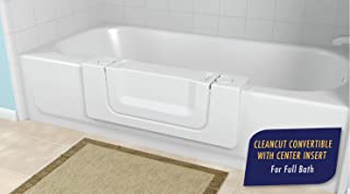 CleanCut Convertible Bathtub Accessibility Kit - Convert Existing Tub to Walk-In Tub (White, Size Large)