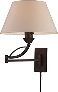 Elk 17026/1 Elysburg 1-Light Swing arm Sconce in Aged Bronze