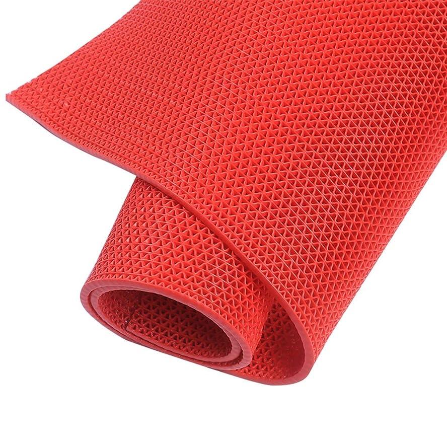 スリップシューズ技術者報酬バルコニーカーペット プラスチックマット、グレー/赤6 Mm暗号化肥厚浴室トイレ中空pvcマット防水マット浴室キッチン屋外の滑り止めカーペット (Color : Red, Size : 1.2m X 3m)