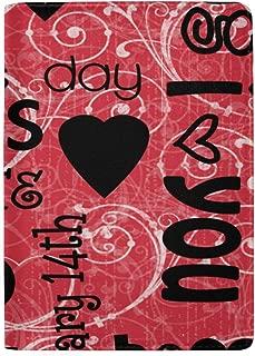Passport Holder Valentine's Day Background Passport Cover Case Wallet Card Storage Organizer for Men Women Kids