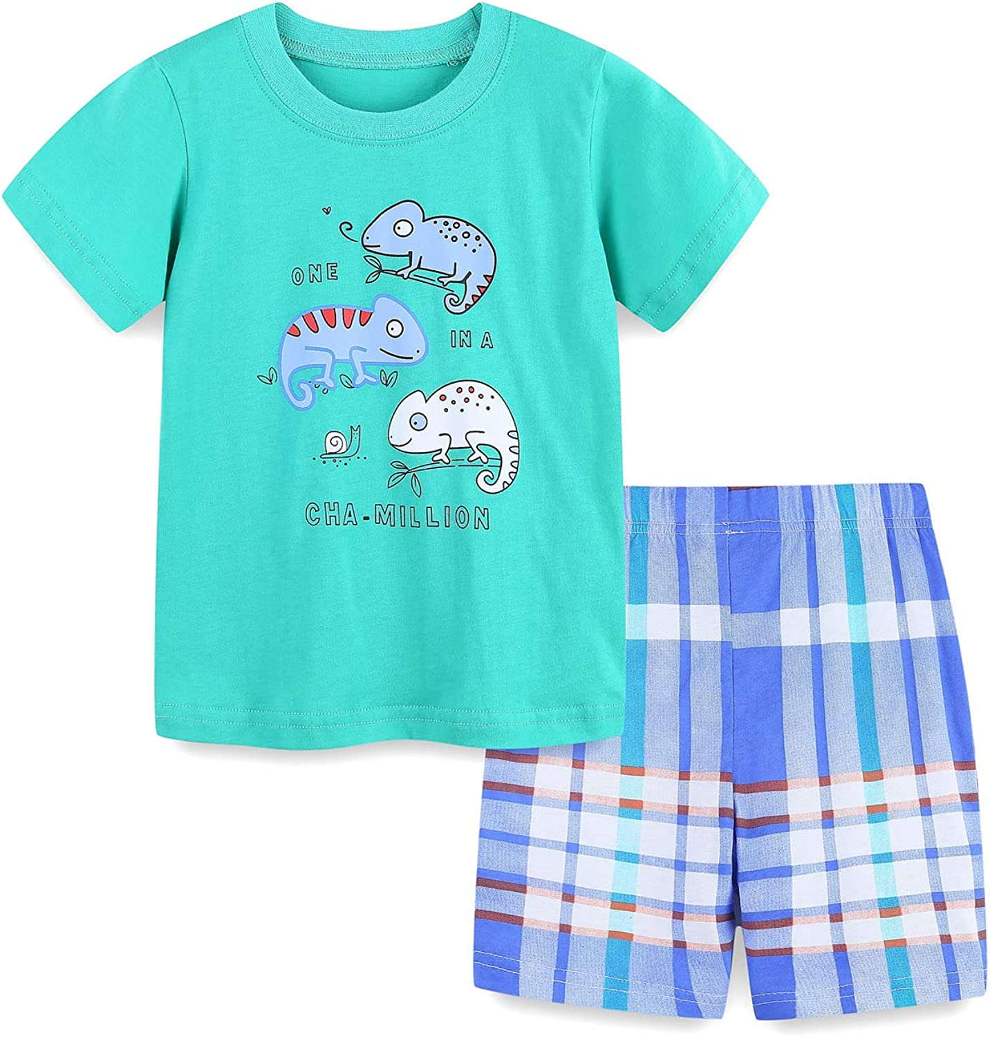 Max 90% half OFF Toddler Boy Summer Outfits Cotton Cartoon To T-Shirt Embroidered