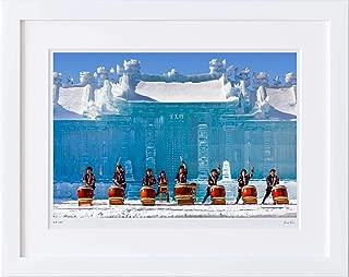 【写真工房アートフォト 額装写真】 さっぽろ雪まつり 大氷像/北海道 札幌市(ホワイト 大判サイズ 557mm×442mm)