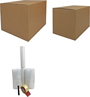 Sponsored Ad - Uboxes Moving Supplies - 1 Room Basic Kit -18 Moving Boxes, Bubble, Tape