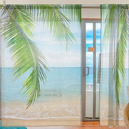 Tropisch Rustikale Gardine Ozean Dreamy Sea Beach