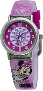 Disney MIN452 Girl's Minnie Mouse Acrylic Band Time Teacher Watch