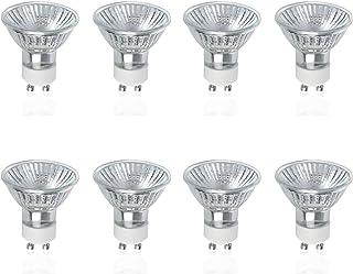 VTERLY GU10 Bombillas Halógenas, 8 Piezas 50W GU10 Halogenos Lámpara, 700LM, 2800K Blanca Cálida, AC 220-240V, 40° Ángulo de Haz, Regulable GU10 Lamparas Halogenas