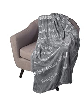 Blankiegram Hugs Blanket The Perfect Caring Gift (Grey)