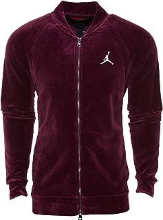 Men's Jordan Sportswear Velour Jacket BLACK/METALLIC GOLD