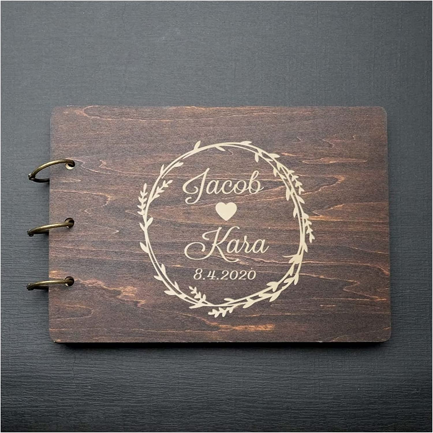 HUMINGG Regular dealer Wedding Guest Large-scale sale Book Weddin Personalized Rustic