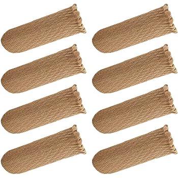 椅子脚カバー チェアソックス 裏地に肉厚シリコンでズレ落ちない 騒音 床傷 防止に 家具あしカバー (ベージュ 2脚分 8個)