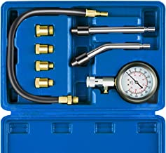 Auto Piston Spark Plug Compression Tester Kit | Automotive Fuel Petrol Gas Engine Motor Cylinder Pressure Gauge for Vehicle Marine Motorcycle ATV UTV Snowmobile Boat