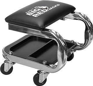 GRANDE VERMELHO AR7451B Torin Heavy Duty Rolling Creeper Garagem/Assento de loja: Banco mecânico acolchoado com bandeja de...