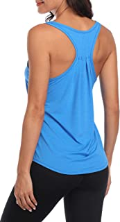 Workout Tops for Women Quick Dry Yoga Top Athletic Training Tank Shirts