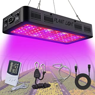 Golspark 1200W LED Plant Grow Light,Full Spectrum Indoor Plant Light with Double Switch Bloom/Veg, IR&UV Growing Lamp Kits for Greenhouse Hydroponic Seedling Veg and Flower