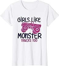 GIRLS LIKE MONSTER TRUCKS TOO T-Shirt Cool Truck Event