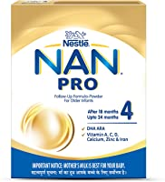 Nestle NAN PRO 4 Follow-up Formula Powder - After 18 months, Stage 4, 400g Bag-In-Box Pack