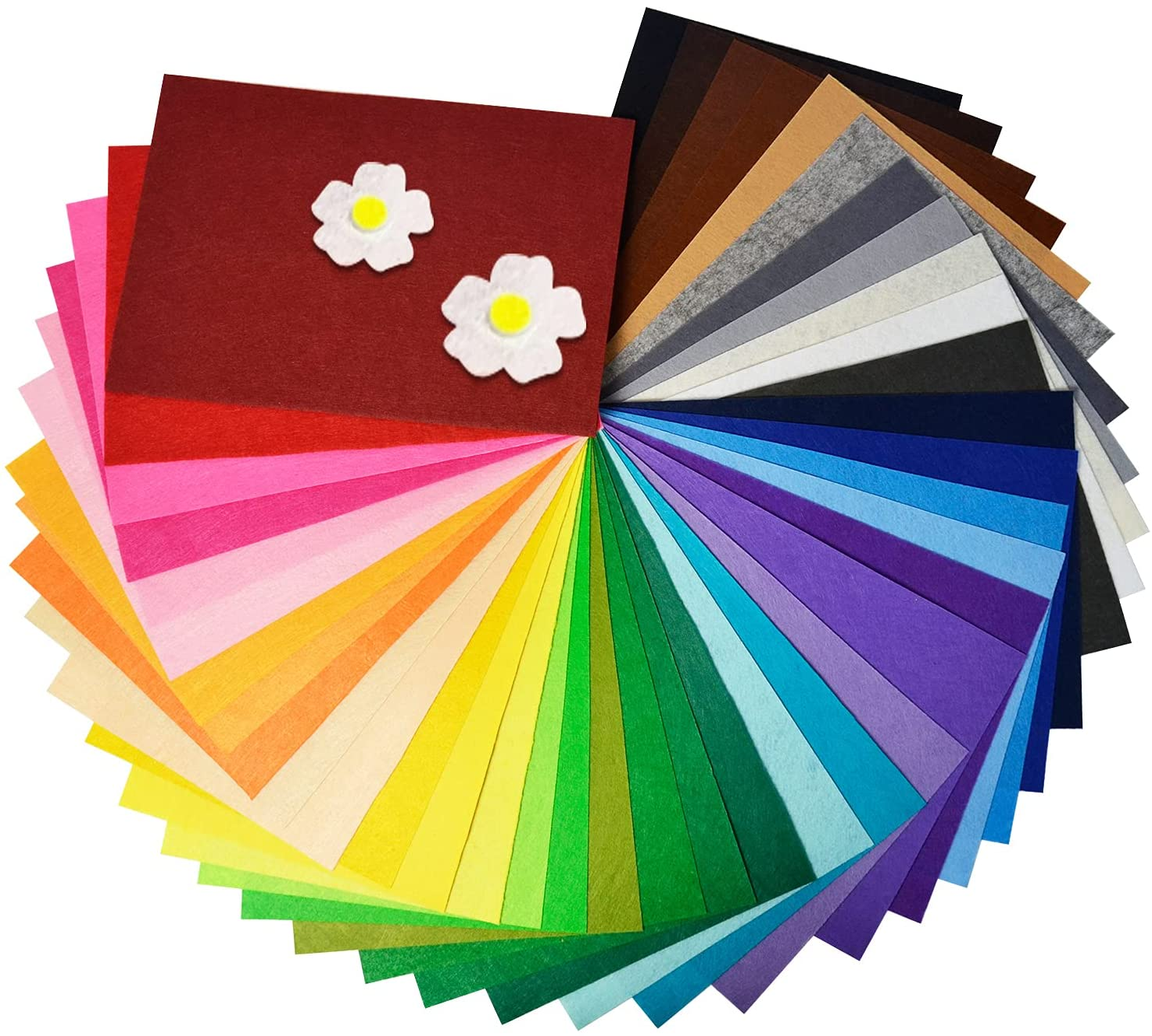 40Pcs Felt Fabric Sheets 8 x Thick 1mm inch 12 Craft DIY Ranking Los Angeles Mall TOP13