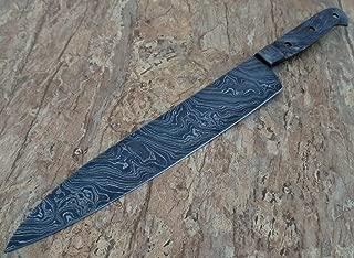 JNR TRADERS Handmade Damascus Steel Chef Kitchen Knife Blank Blade Twist Pattern 15.00 Inches VK2031